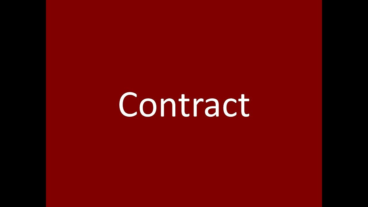 Contract Meaning Definition Pronunciation Example Synonym Antonyms