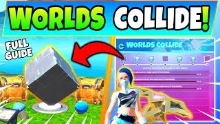 Fortnite WORLDS COLLIDE CHALLENGES GUIDE SEASON 10! - Cube Memorials (Fortnite Missions)