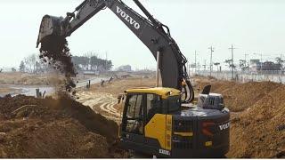 ECR235E Volvo Construction Equipment crawler excavator with short swing radius