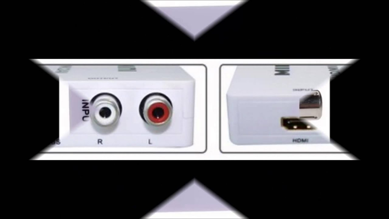 Mini Hd Video Converter Box Hdmi To Av Cvbs L R Adapter 1080p Hdmi2av Support Ntsc And Pal Out