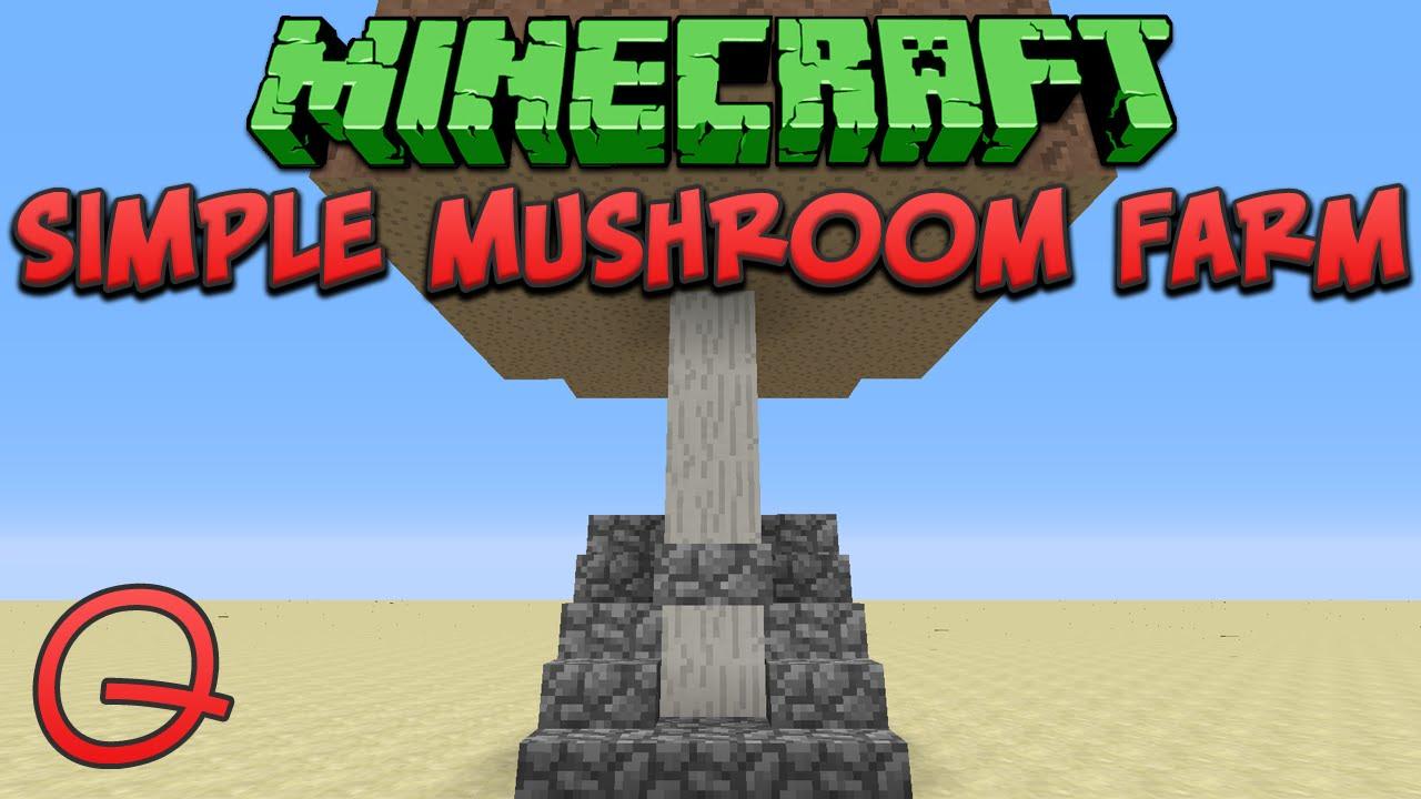 Minecraft Simple Mushroom Farm Quick Tutorial Youtube