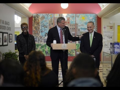 Mayor Bill de Blasio Announces Superstorm Sandy Recovery Efforts for NYC Housing Authority