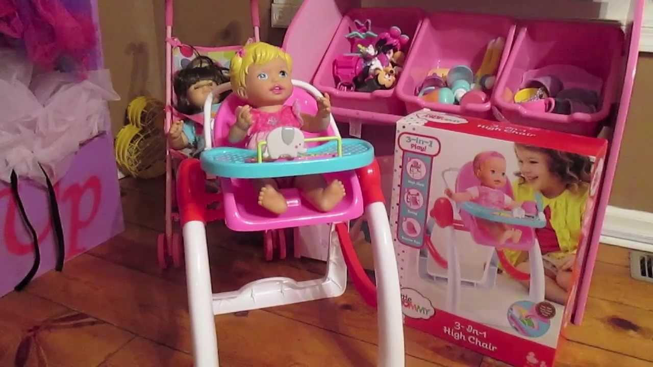 Fisher Price Little Mommy 3 In 1 High Chair Review Youtube