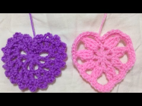 Crochet Pretty Hanging Hearts - DIY Crafts - Guidecentral