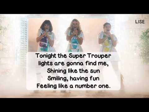 Mamma Mia! Here We Go Again - Super Trouper (Lyrics Video)