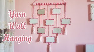 diy yarn wall hanging / photo wall hanging