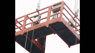 Building Hoist Construction Elevator Cradle Lifter Gondola Suspended Platform Products Show