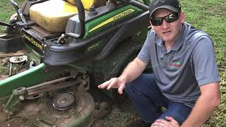 Cleaning Deck and Greasing Zero Turn Mower
