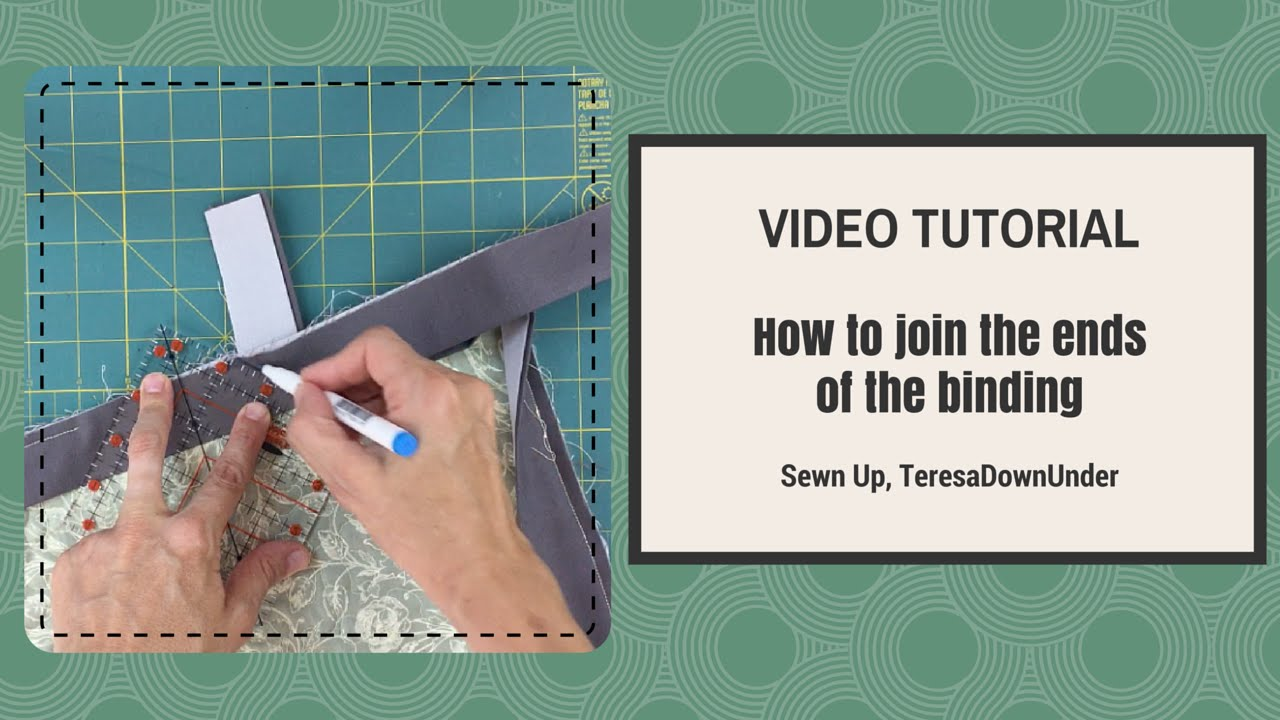 Video tutorial: How to join the binding ends of your quilt - YouTube : joining quilt binding - Adamdwight.com