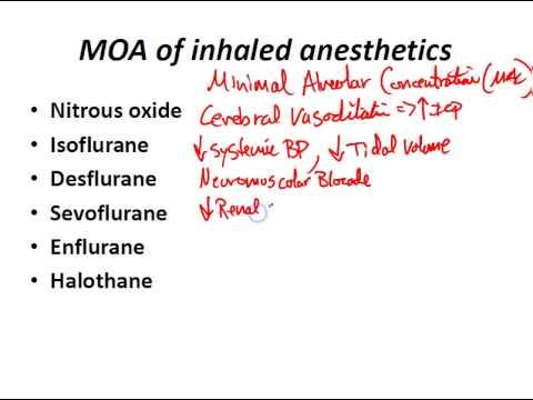 USMLE Review - Neuro (Pharmacology - Anesthesia Drugs)