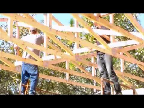 Rat Runs and Wind Braces- Wood truss building construction.