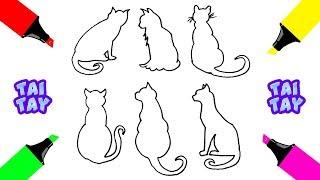 Рисунок срисовка КОШКИ Как нарисовать кошку