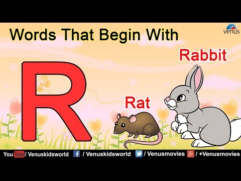 Words That Begin With 'R'