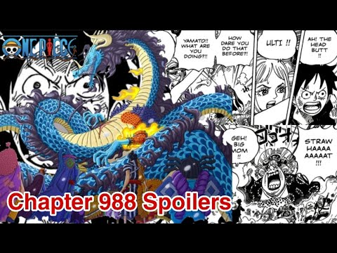 One Piece Chapter 988 Spoilers Release Date Youtube