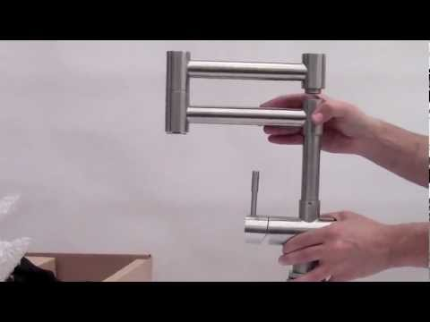 alfi brand ab2038 modern solid stainless steel retractable kitchen faucet