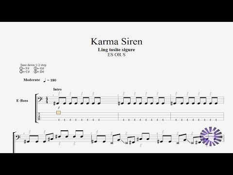 Ling Tosite Sigure - Karma Siren Bass Only