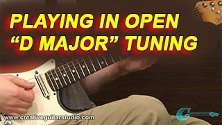 guitar theory: playing in -open d major