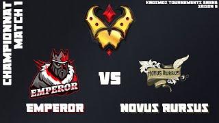 Gold League Championship #3 - Emperor vs Novus Rursus - Match 1