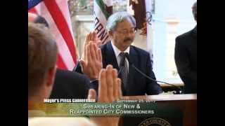 Mayor Lee Swears In New & Reappointed City Commissioners