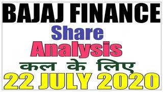 JULY 22 Bajaj Finance Stock Analysis Bajaj Finance Share BAJAJ FINANCE SHARE LATEST NEWS intraday