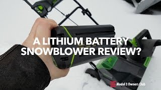 A lithium battery snowblower review??  | Model 3 Owners Club