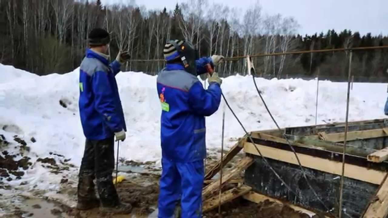 Укладка бетона зимой. Выгоды зимнего строительства