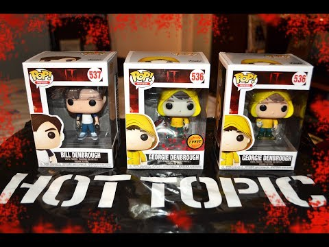 IT series 2 BILL & GEORGIE DENBROUGH + CHASE GEORGIE FUNKO POP unboxing review! The Losers Club