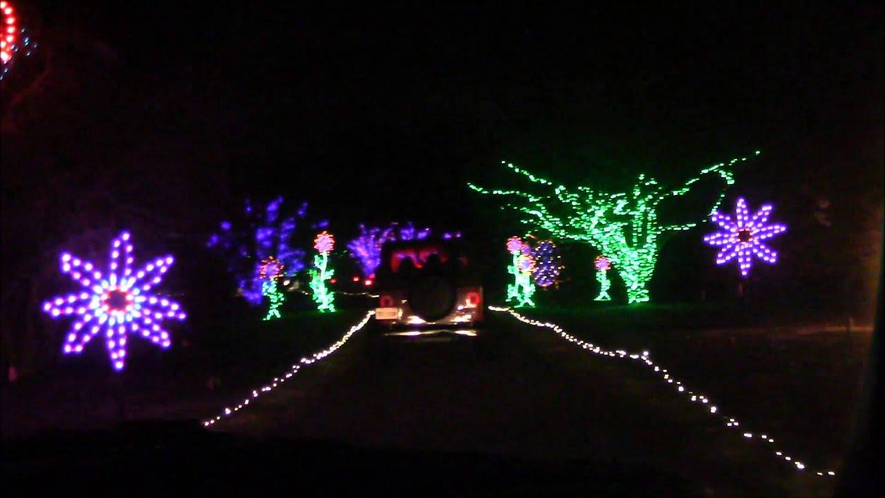 Norfolk Botanical Garden Christmas Lights Part 2
