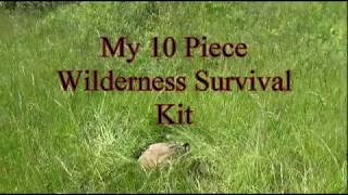 My 10 Piece Wilderness Survival Kit