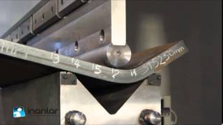 Inanlar CNC Press Brake Bending ST52 50mm Mild Steel in V300 Channel