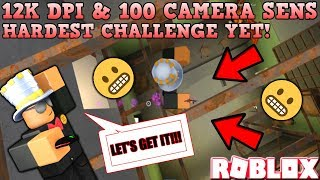 12K DPI & 100 CAMERA SENSITIVITY CHALLENGE (ROBLOX ASSASSIN INSANE CHALLENGES) *JUICY KILLS*