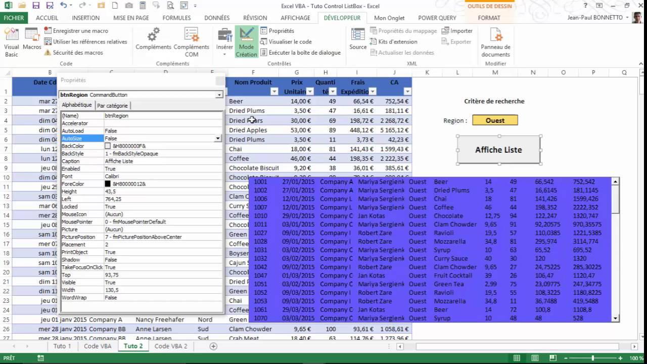 Excel VBA - Comment alimenter une ListBox à partir d'un critère