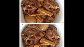 Khor Jeung Chruk (caramelized Pork Feet ). Cooking Cambodian/khmer Food With Elissa.