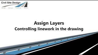 Civil Site Design - Assign Layers