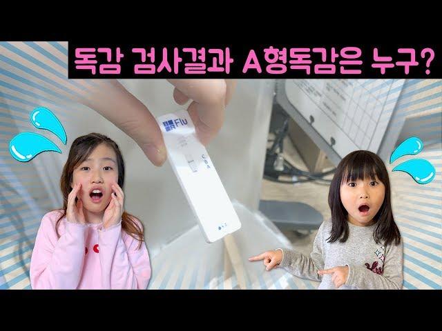 독감검사 결과 A형 독감은 누구?? 온가족이 독감 검사를?? 니블리 여러분들 독감 조심하세요~!!