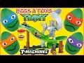 Teenage Mutant Ninja Turtles T-Machines Turtles Revenge Track + TMNT Play Doh Surprise Eggs