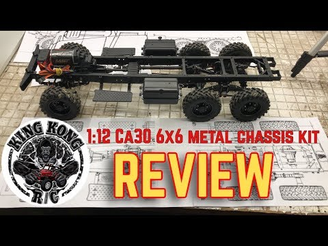King Kong RC CA30 6x6 Metal Chassis KIT REVIEW & Over Look