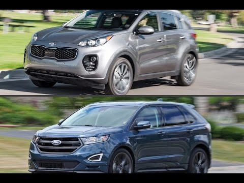 Kia Sportage Ex Vs  Ford Edge Sport Youtube