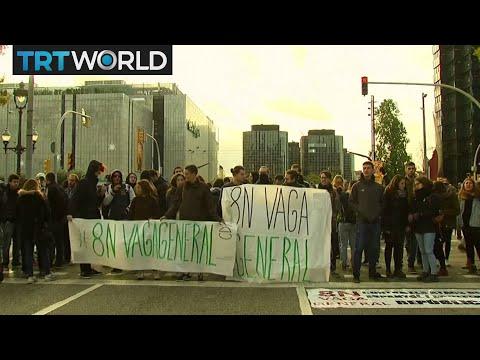 Catalan Crisis: Demonstrators hold strike for jailed leaders
