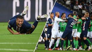 Kylian Mbappe injury sparks mass brawl in Coupe de France final! Mbappe leaves the field in tears