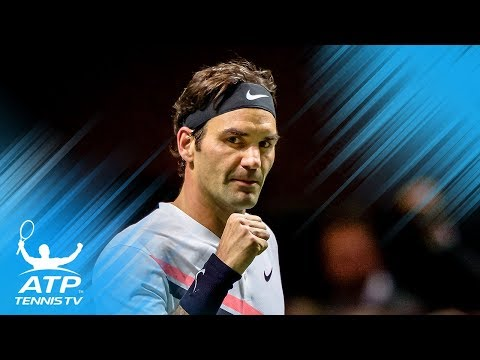 Roger Federer wins Rotterdam 2018: match point and celebration