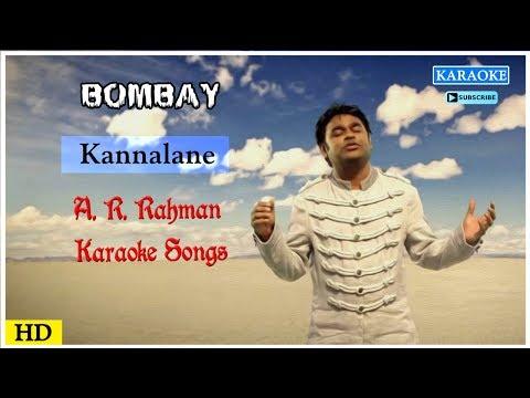 Kannalane Karaoke Song | AR Rahman Karaoke Songs | Bombay Movie Songs | Best of Tamil Karaoke Songs