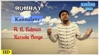 Kannalane Karaoke Song | AR Rahman Karaoke Songs | Bombay Movie Songs | Best of Tamil Karaoke Songs
