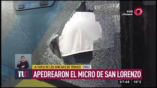 Apedrearon el micro de San Lorenzo