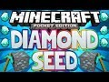 Minecraft Pocket Edition | DIAMOND SEED With Iron, Gold, Coal, Redstone! *NEW*