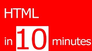 learn HTML in 10 minutes