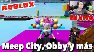 In LIVE we play Roblox in Spanish with subscribers / Meep City, Obby, Survival