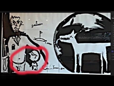 Pedophile like painting at Universal Music Group record label | Santa Monica CA