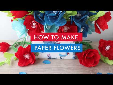 How to Make Paper Flowers with Paper Twine