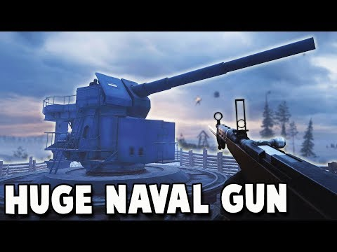 New HUGE Coastal Naval Gun - Battlefield 1 In the Name of the Tsar Albion MAP (BF1 DLC New Map)
